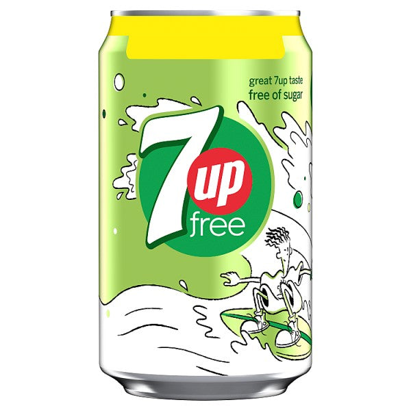 7Up Free Lemon and Lime 330ml