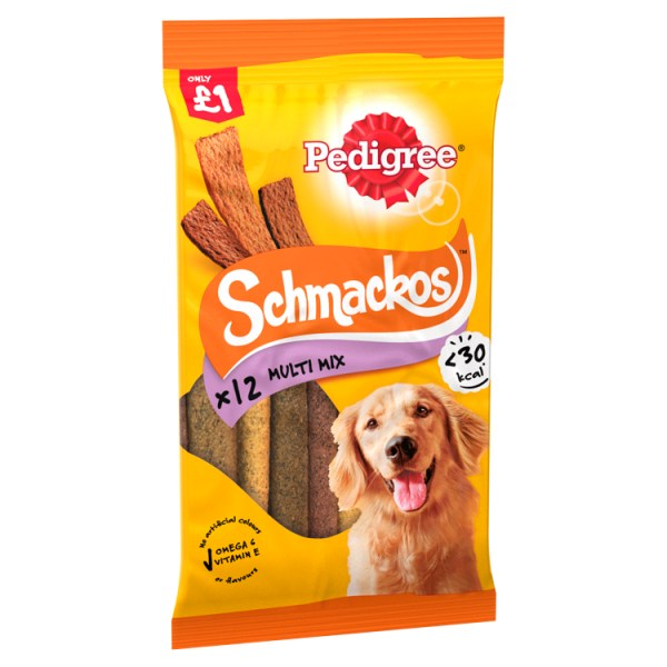 PEDIGREE Schmackos Dog Treats Multi 12 Stick MPP £1