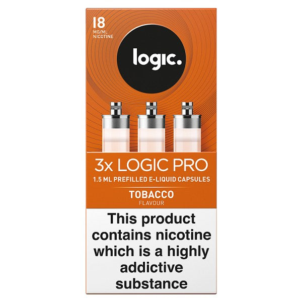 Logic Pro Capsules Tobacco Flavour 18mg