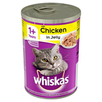 WHISKAS® 1+ Cat Tin with Chicken in Jelly 390g