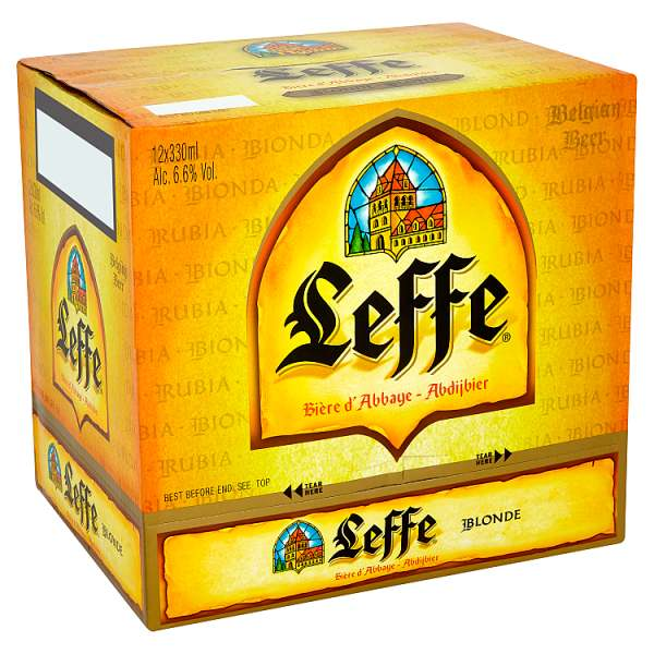 Leffe Blonde Abbey Beer Bottles  330ml