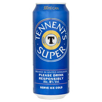 Tennent's Super Strong Lager Beer Can 500ml