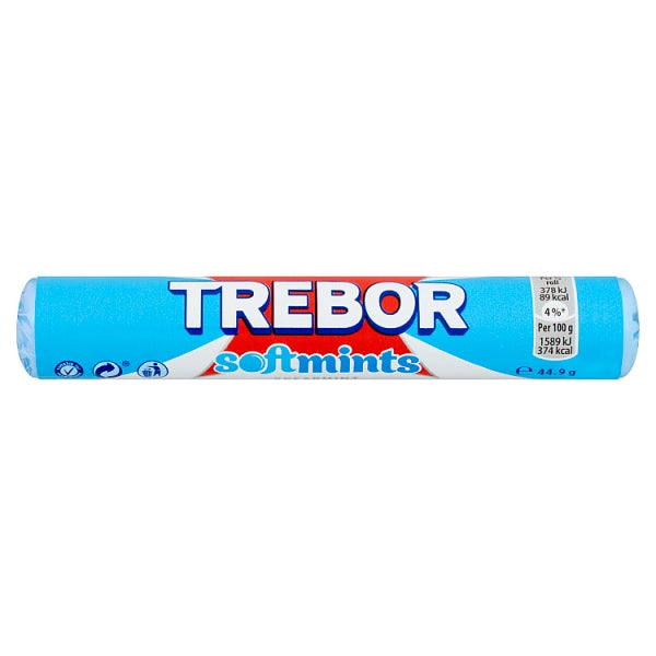 Trebor Softmints Spearmint Mints Roll 44.9g