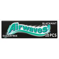 Airwaves Black Mint Sugar Free Chewing Gum Multipack 10 Pieces