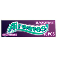 Airwaves Blackcurrant Chewing Gum Sugar Free 10 Pieces