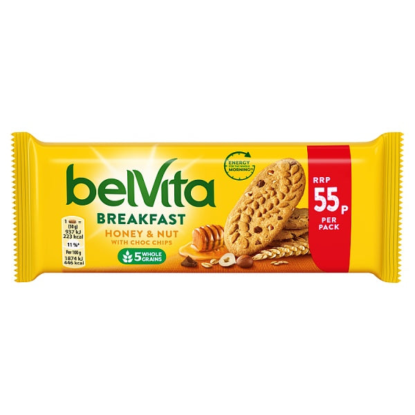 Belvita Breakfast Biscuits Honey and Nuts 55p 50g