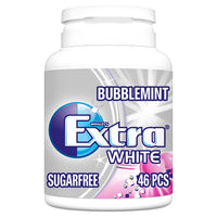 Extra White Chewing Gum Sugar Free Bottle 46 Pieces