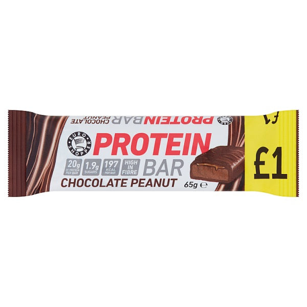 Euro Shopper Chocolate Peanut Protein Bar 65g