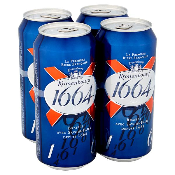 Kronenbourg 1664 Lager Beer 440ml