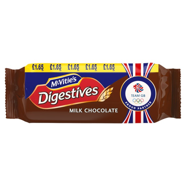 McVitie's Digestives Milk Chocolate 266g £1.65 PMP