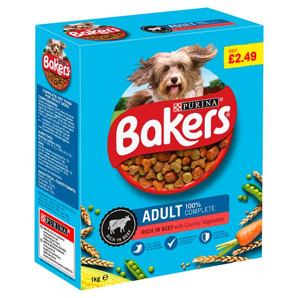 Bakers Adult Dry Dog Food Beef and Veg 1kg