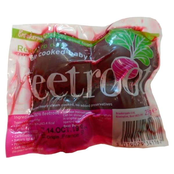Brookerpaks Whole Cooked Baby Beetroot 250g