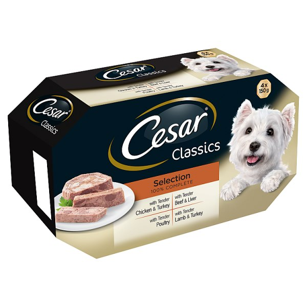CESAR Classics Dog Trays Mixed Selection 4 x 150g