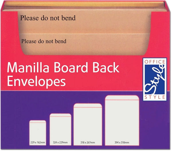OFFICE STYLE MANILLA BOARD BACKED ENVELOPE CABINET STA065