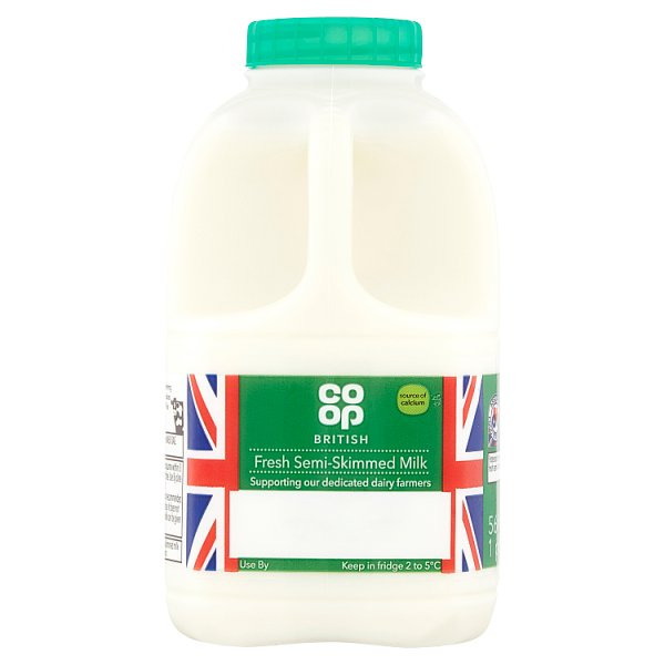 CO OP 1PT FRESH SEMI SKIMMED MILK