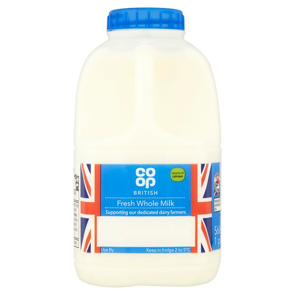 CO OP 1PT WHOLE FRESH MILK