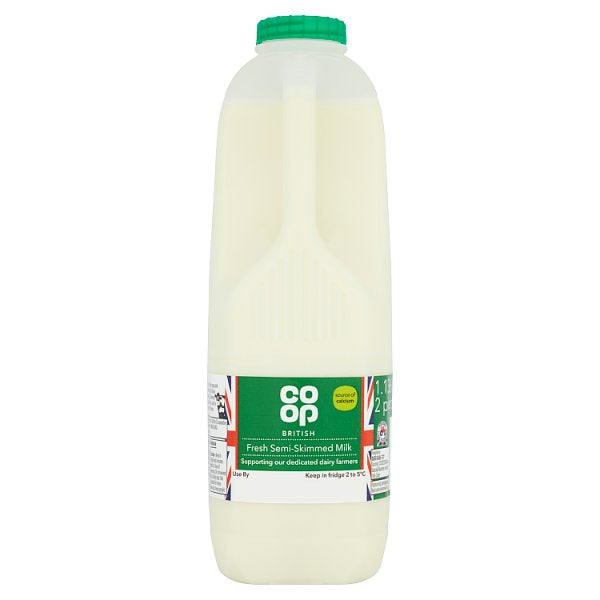 CO OP 2PT FRESH SEMI SKIMMED MILK