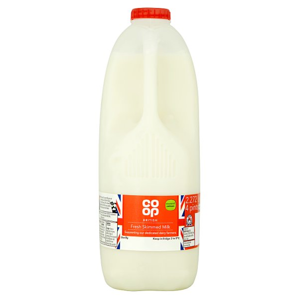 CO OP 4PT FRESH SKIMMED MILK