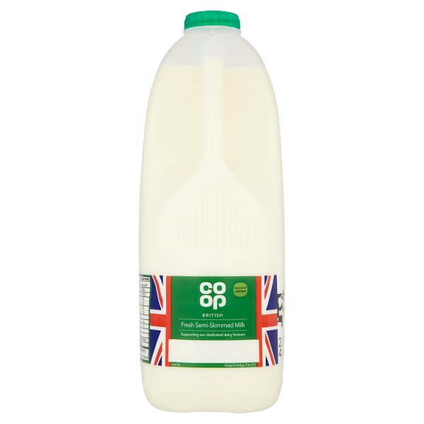 CO OP 4PT SEMI SKIMMED MILK