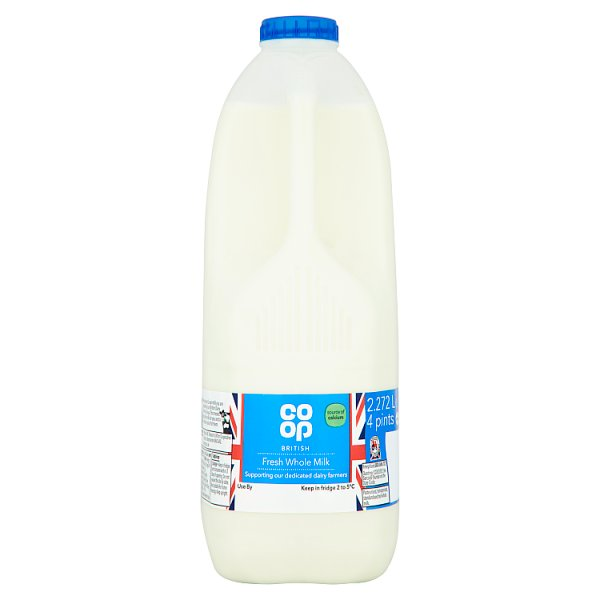 CO OP 4PT WHOLE FRESH MILK