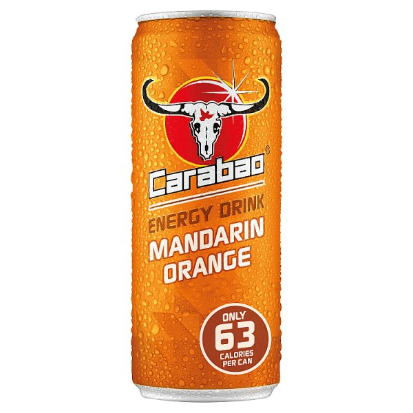 Carabao Energy Drink Mandarin Orange 330ml