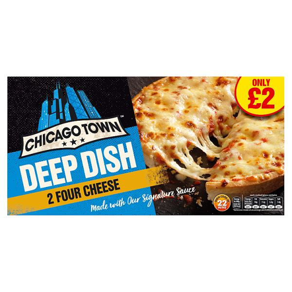 Chicago Town 2 Deep Dish Four Cheese Pizza 310g