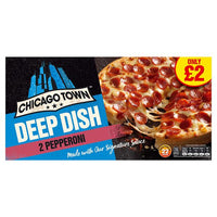Chicago Town 2 Deep Dish Pepperoni Pizza 320g