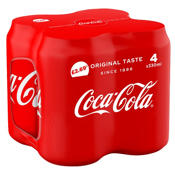 Coca-Cola Original Taste 4 x 330ml