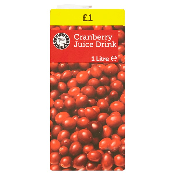 Euro Shopper Cranberry Juice Drink 1 Litre