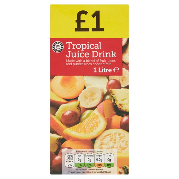 Euro Shopper Tropical Juice Drink 1 Litre