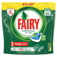 Fairy Original All In One Dishwasher Tablets Regular x17