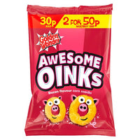 Golden Wonder Awesome Oinks Bacon Flavour Corn Snacks 25g