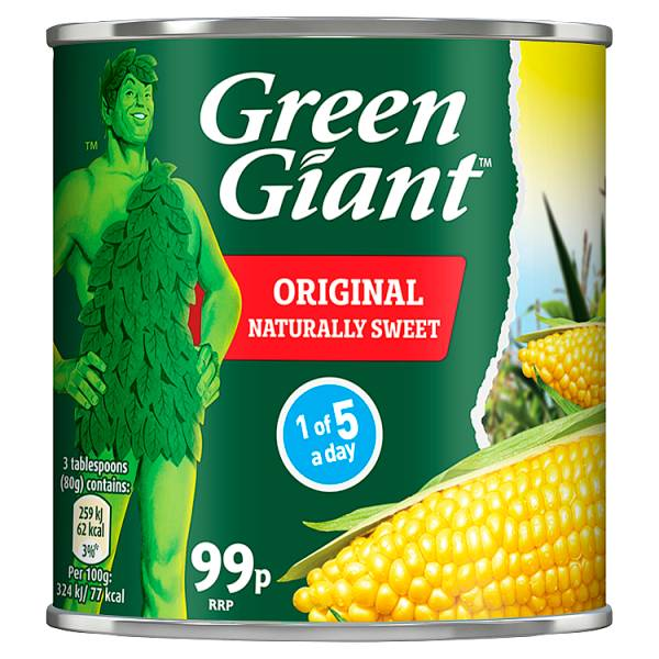 Green Giant Original Sweetcorn 340g (Drained Weight 285g)Recent Purchase