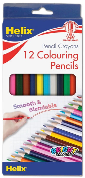 HELIX 12 FULL LENGTH COLOURING PENCILS HANG PACK PN3010