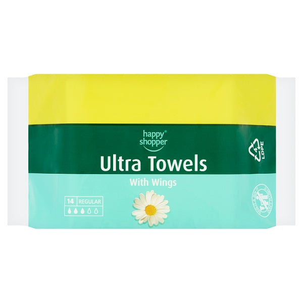 Happy Shopper 14 Regular Ultra Towels with Wings