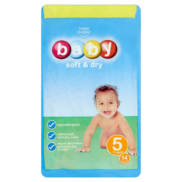 Happy Shopper Baby Soft & Dry 5 11-25kg 14 Nappies