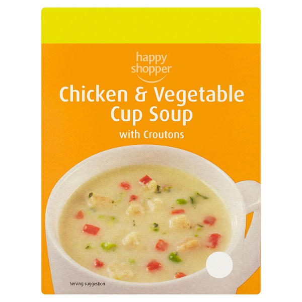 Happy Shopper Chicken and Vegetable Cup Soup with Croutons 4 x 22g (88g)