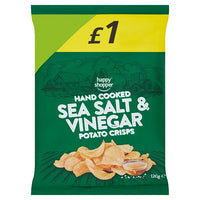 Happy Shopper Hand Cooked Sea Salt & Vinegar Potato Crisps 120g