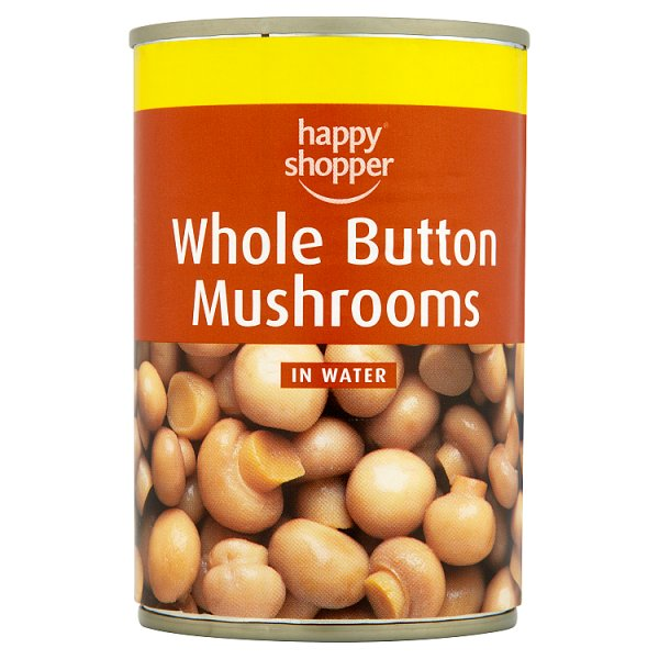 Happy Shopper Whole Button Mushrooms in Water 285g (Drained Weight 156g)