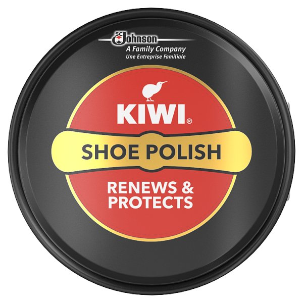 Kiwi Shoe Polish Tin Black 50ml