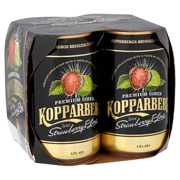 Kopparberg Premium Cider with Strawberry & Lime 4 x 330ml