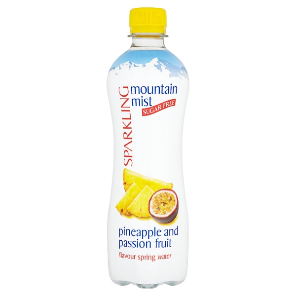 Mountain Mist Sparkling Sugar Free Pineapple and Passion Fruit Flavour Spring Water 500ml