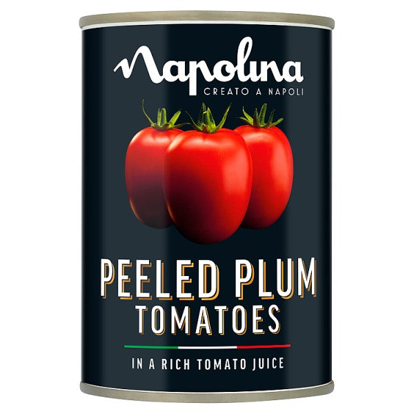Napolina Peeled Plum Tomatoes in a Rich Tomato Juice 400g (Drained Weight 260g)