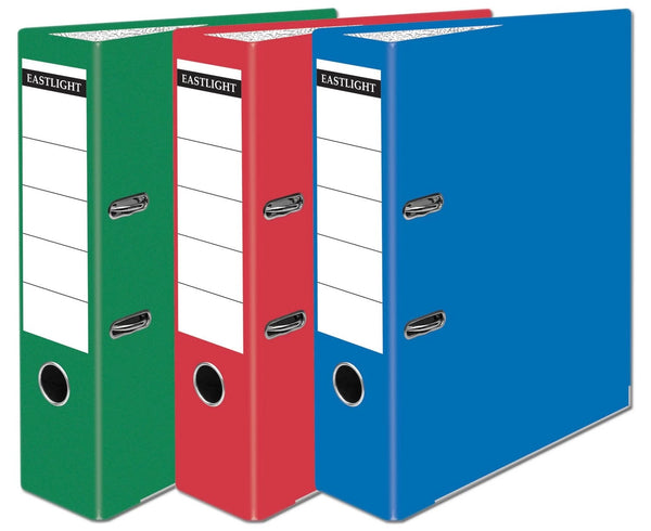 BASIC A4 LEVER ARCH FILE ASSORTED 3 GREEN 3 RED 4 BLUE 1175