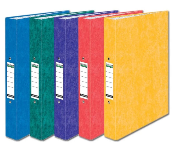 LAMINATED A4 RING BINDER ASSORTED 2 BLUE GREEN PURPLE RED YELLOW 52340ELHT