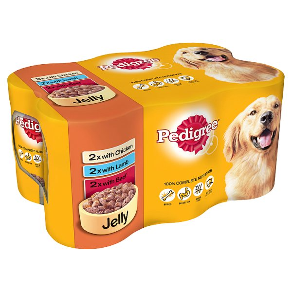 Pedigree Dog Tins Mixed Selection in Jelly 6 x 385g