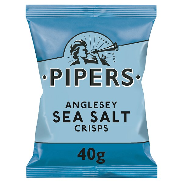 Pipers Anglesey Sea Salt Crisps 40g