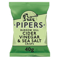 Pipers Burrow Hill Cider Vinegar & Sea Salt Crisps 40g