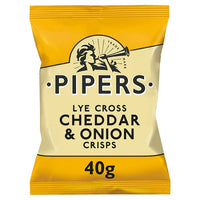 Pipers Lye Cross Cheddar & Onion Crisps 40g