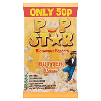 Pop Star Microwave Popcorn Butter Flavour 85g